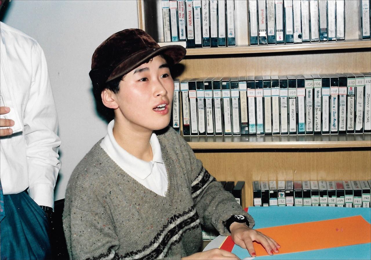 1989년 민간 시네마테크 '영화공간1895' 대표였던 이언경(2009년 작고).