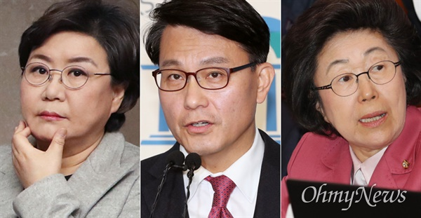 21일 미래통합당 공천관리위원회로부터 '컷오프'(공천배제) 결정이 난 이혜훈, 윤상현, 이은재(왼쪽부터) 의원.