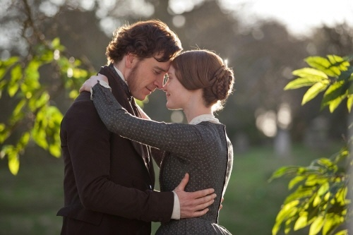 영화 <제인 에어> 속 한 장면. 로체스터와 사랑에 빠진 제인 에어.