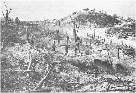 미군의 월미도 폭격 후