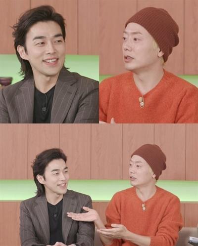 MBC 예능 <언니네 쌀롱>에 출연한 태사자 멤버 김형준-박준석.