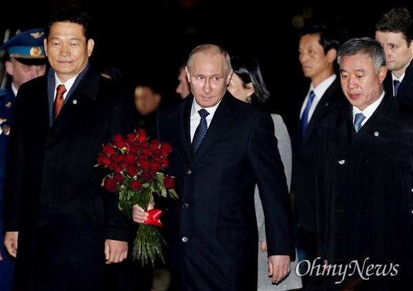블라디미르 푸틴 러시아 대통령이 지난 2013년 11월 러시아 대통령으로서는 처음으로 인천을 방문했다. 당시 송영길 의원은 인천시장이었다.