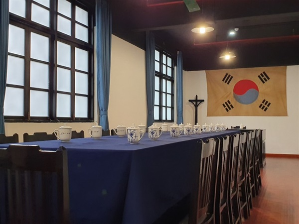 광복군총사령부 내 회의실