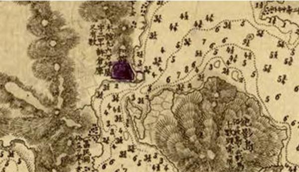 일본 육군이 제작한 부산포 지도