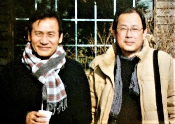 2011년 단편영화 촬영 현장에서 안성기 배우와 함께 한 이세민 감독