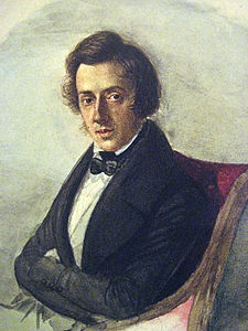 마리아 보진스키가 그린 쇼팽의 초상화.(1836. 마리아 보진스키)