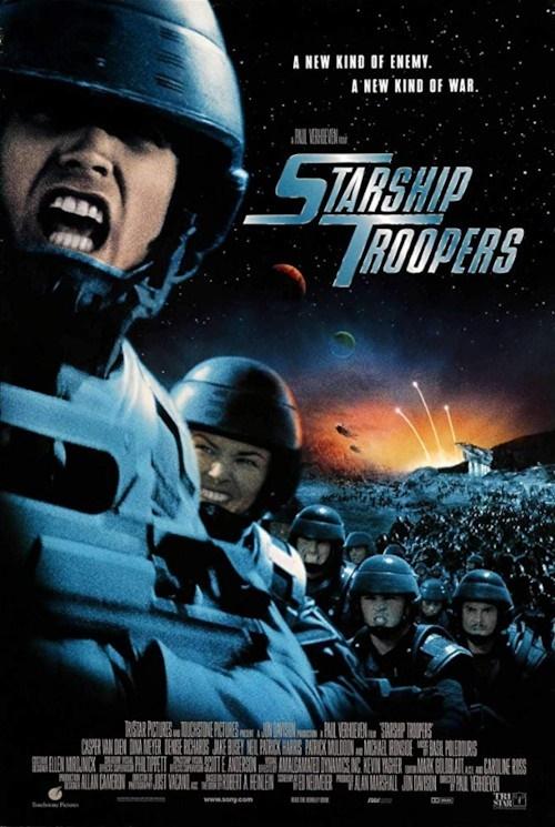 영화 <스타쉽 트루퍼스> 포스터.
