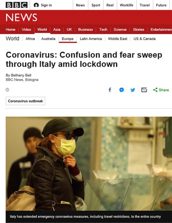 이탈리아 코로나19 확산 이탈리아가 코로나19로 인해 사망자수가 무려 1000명을 넘어섰다.