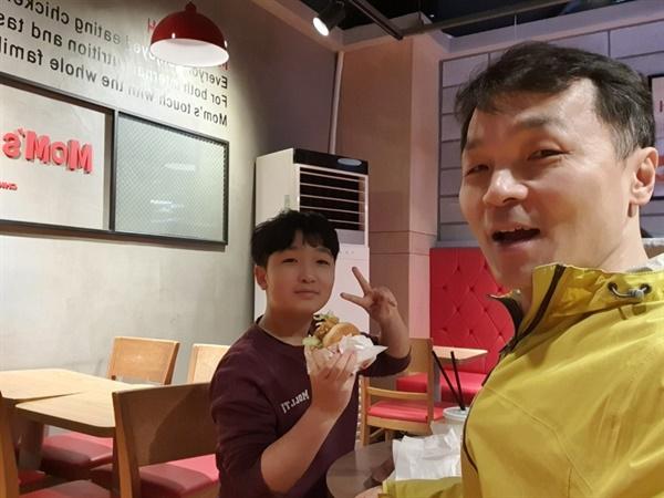 아들의 식성은 운동 후 더 좋아진다.