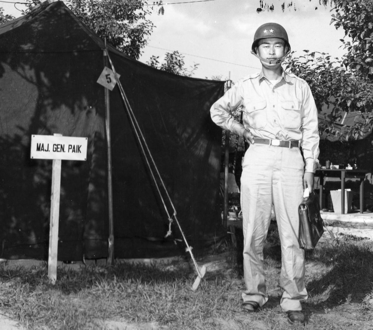 한국전쟁 당시 백선엽 육군소장 (1951. 8. 13.).