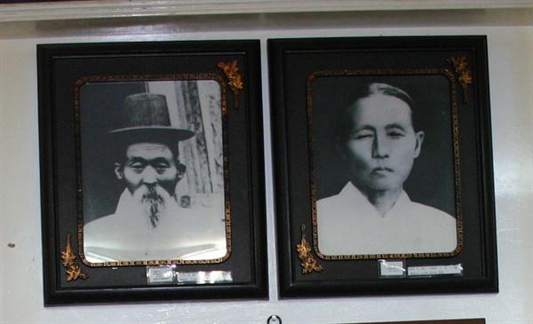 박정희 대통령 아버지(왼쪽)와 어머니 약목댁(오른쪽).