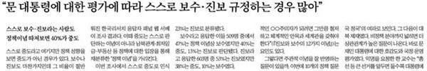 중앙일보 3월 5일자 <4.15 중도 표심에 달렸다(하)> 관련 기사