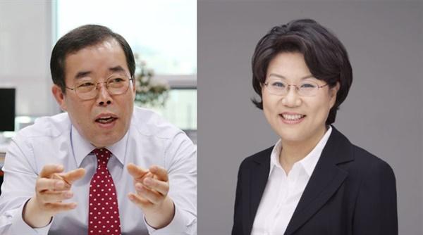 박성중 의원(왼쪽) 이혜훈 의원(오른쪽) 박성중 의원과 이혜훈 의원이 16일 경선에서 승리하며 공천을 확정지었다.