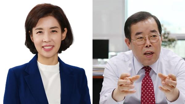 박경미 의원(더불어민주당/왼쪽) 박성중 의원(미래통합당/오른쪽) 이번 총선에서 서초을은 현역의원간의 대결이 이뤄진다.