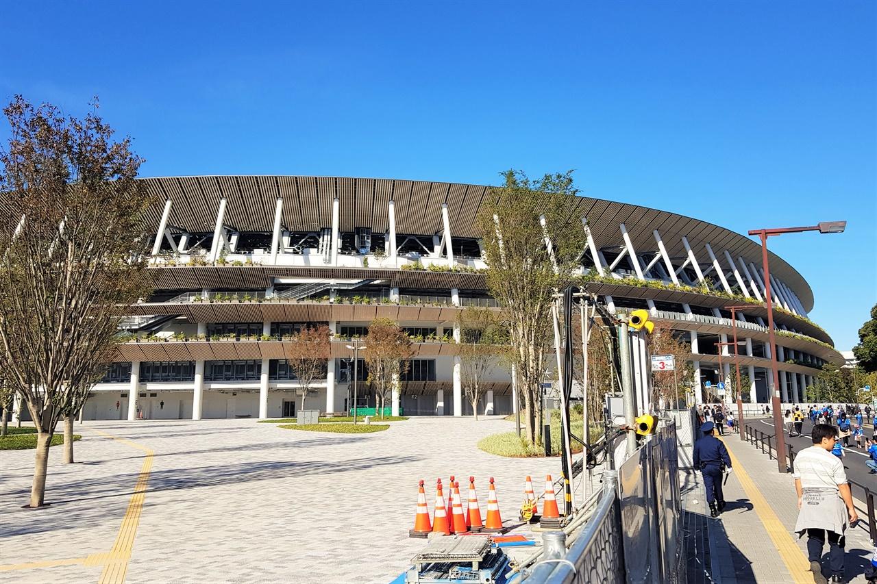 2020 도쿄 올림픽의 주경기장으로 사용될 도쿄 카스미가오카 신국립 경기장.