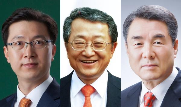 미래통합당 '진주을' 국회의원선거 후보로 나선 강민국, 김재경, 이창희 후보.