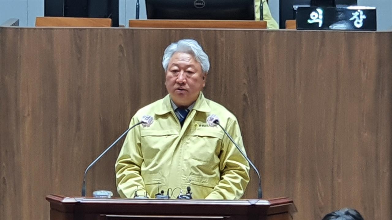 5분 자유발언을 하는 김대영 의원