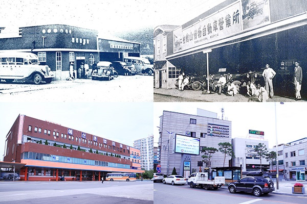 예산터미널의 옛 모습과 현재의 모습. ⓒ 이동규