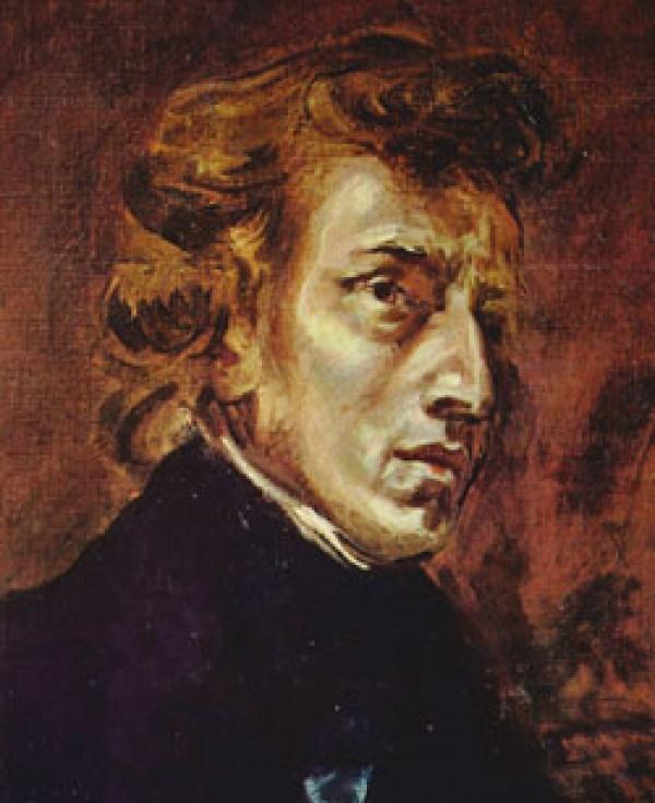 쇼팽 초상화(글라크루아,1838. 루브르 박물관)