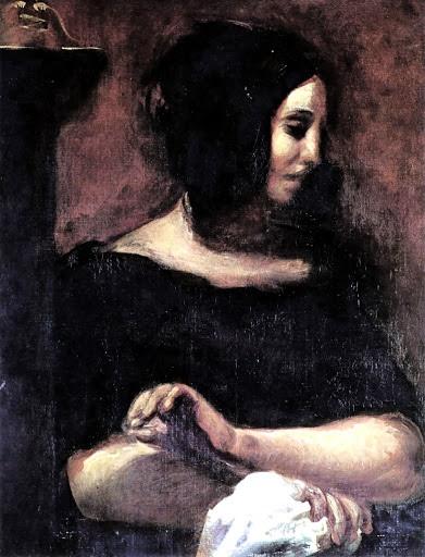 조르주 상드의 초상화(들라크루아. 1838. 코펜하겐 오르드룹고르 박물관)