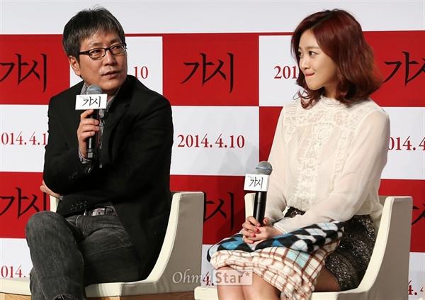 1985년 외국어대 '울림'을 만든 김태균 감독. 2014년 <가시> 제작보고회