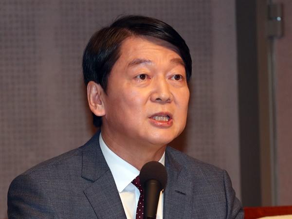 국민의당 안철수 대표가 31일 오전 서울 한국프레스센터에서 열린 관훈토론회에서 발언하고 있다.