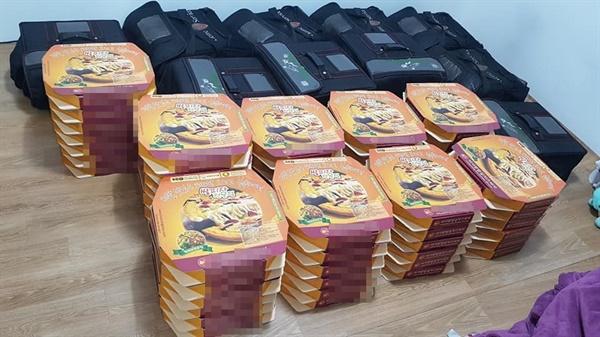 지난 28일 코로나 19 확진자들이 입원해 있는 서산의료원에 피자 30판이 도착했다. 피자는 서산에서 직장에 다니는 한 시민이 코로나 19로 고생하는 의료진을 위해 제공한 것.