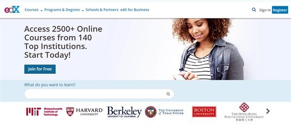대표적인 MOOC(Massive Open Online Course) 플랫폼 가운데 하나인 미국의 '에드엑스(edX)'.