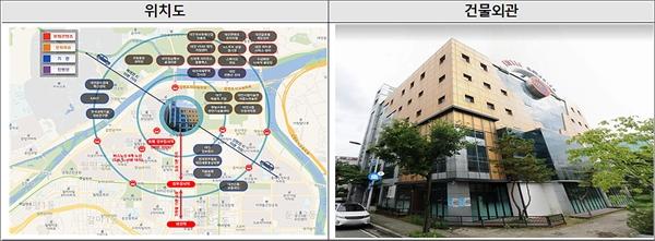 대전콘텐츠산업 육성센터 위치도 및 건물 외관(자료사진).