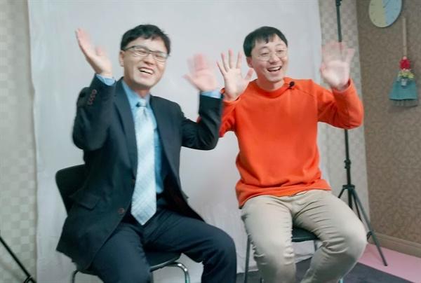 촬영 중이신 김준성 선생님과 이동탁 선생님