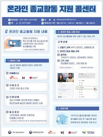 온라인 종교활동 지원 콜센터