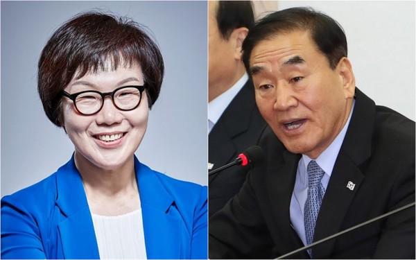 (왼쪽) 은평갑 이미경 전 국회의원, (오른쪽) 은평을 이재오 전 국회의원.