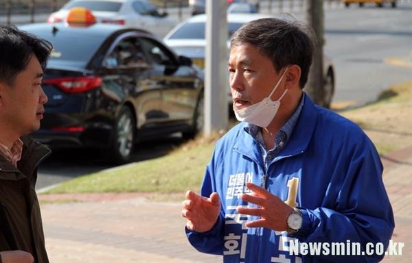 구미시을에 출마한 민주당 김현권 후보.