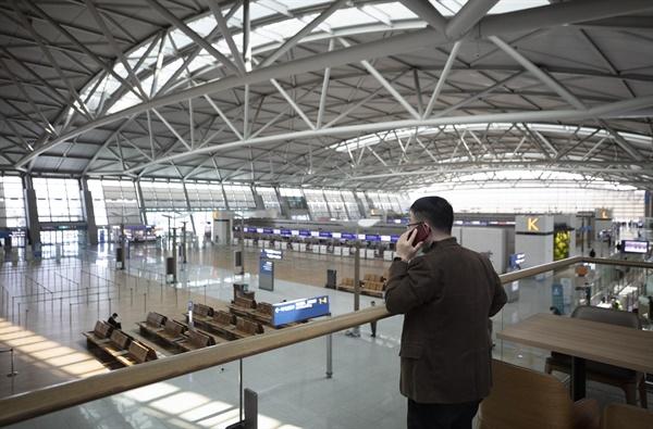한산한 공항  지난 3월 30일 오후 인천국제공항1터미널 출국장이 한산하다. 2020.3.30