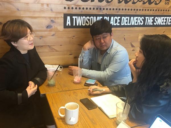 왼쪽부터 조희원, 엄창환, 김한샘(재단법인 와글 매니저)