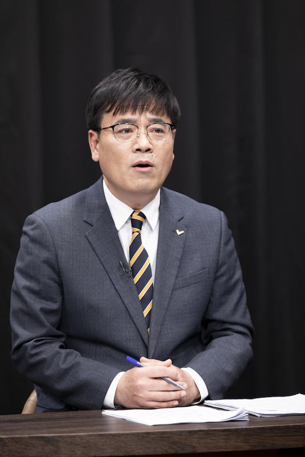 정의당 김종민 후보 (사진 : 정민구 기자)