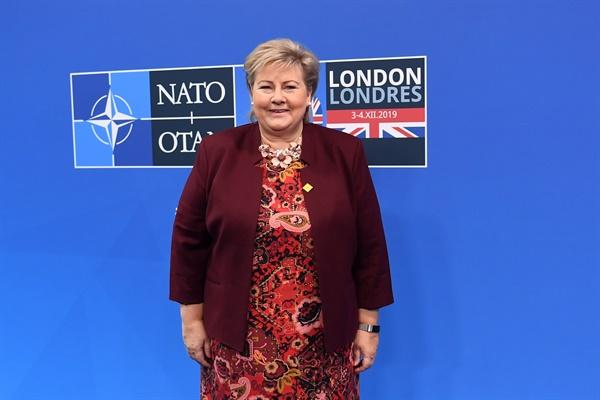 에르나 솔베르그 노르웨이 총리, 나토 정상회의 참석