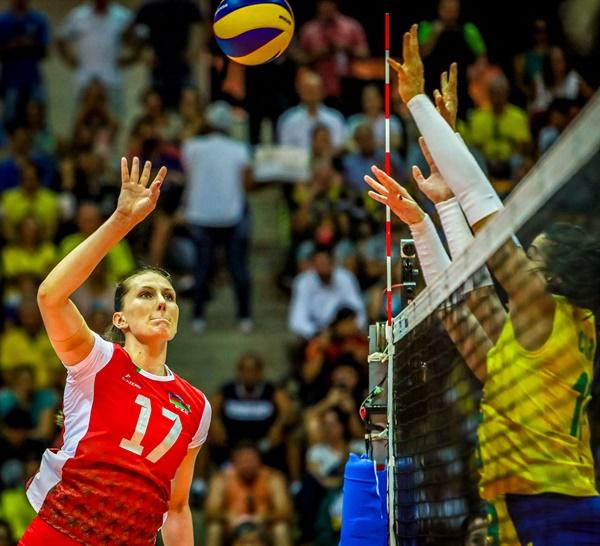 '아제르바이잔 폭격기' 폴리... 2020 도쿄올림픽 세계 예선전 아제르바이잔-브라질 경기 (2019.8.2)