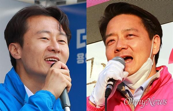 21대 총선 경기도 용인시정 더불어민주당 이탄희 후보와 미래통합당 김범수 후보.