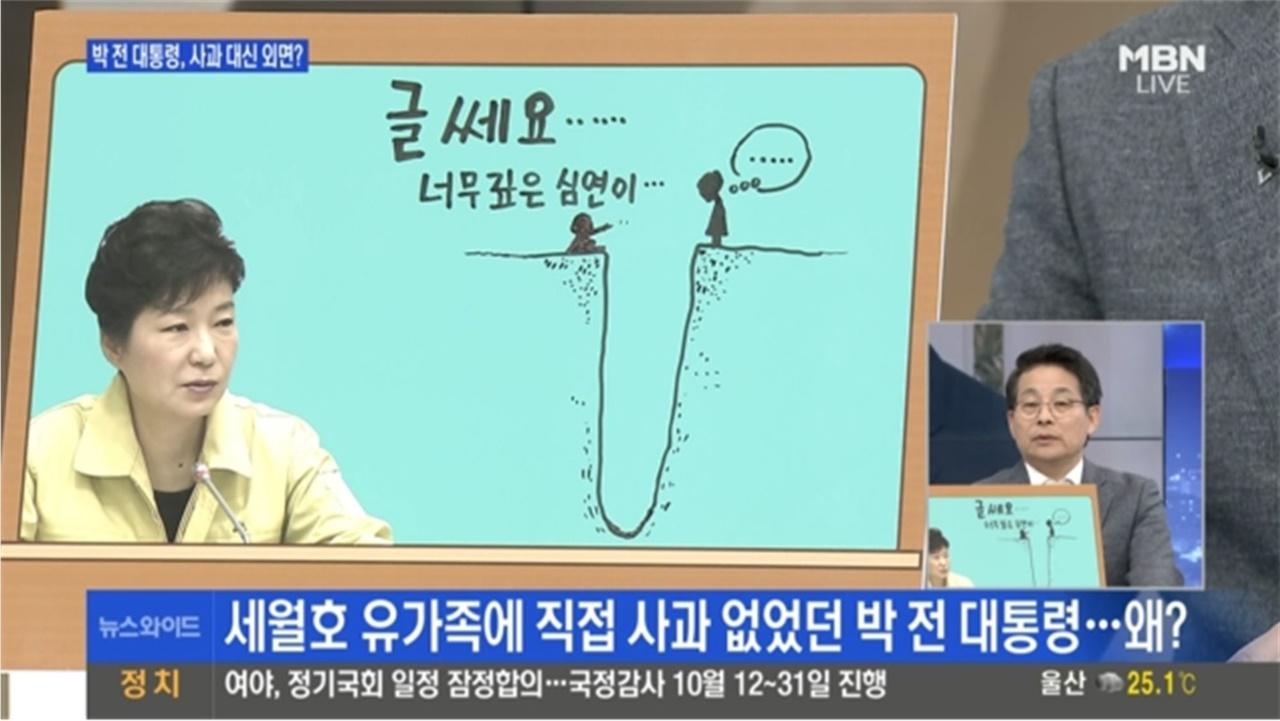 박근혜씨 입장에서 세월호 참사 바라본 차명진 후보 MBN <뉴스와이드>(2017/8/16)