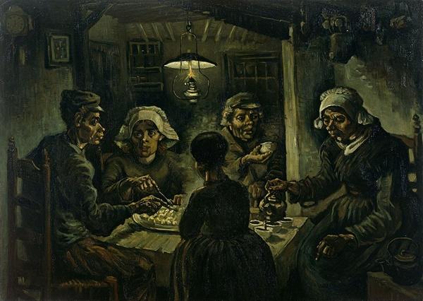 감자 먹는 사람들(1885) 반 고흐 Source: Wikimedia Commons