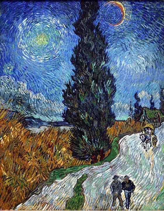 사이프러스와 별이 있는 길(1890) 반 고흐 Source: Wikimedia Common