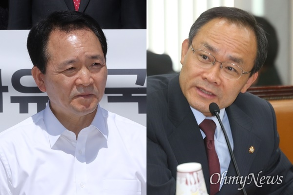 성일종 미래통합당 의원(왼쪽)과 고 성완종 전 경남기업 회장.