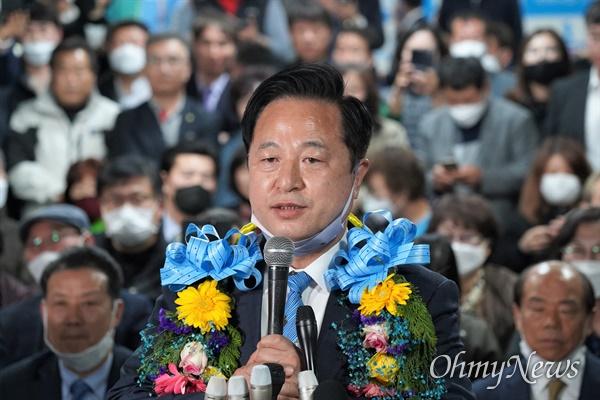 더불어민주당 김두관 국회의원선거 당선인.