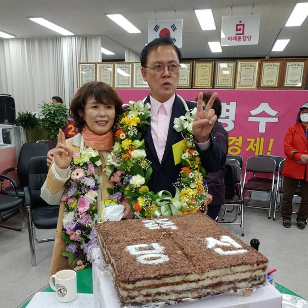 이명수 후보는 충남 아산시 최초로 4선 의원에 당선됐다.