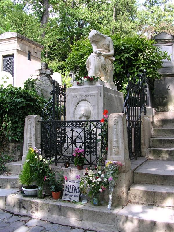 쇼팽이 묻힌 파리 페르 라세르 묘지