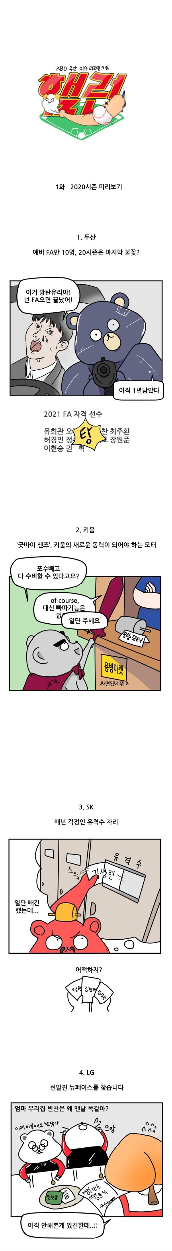 1 [햄런] KBO 2020 시즌 미리보기