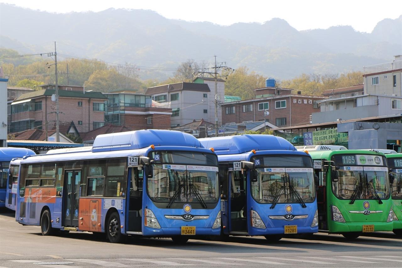 서울시 강북구 수유동 차고지 모습