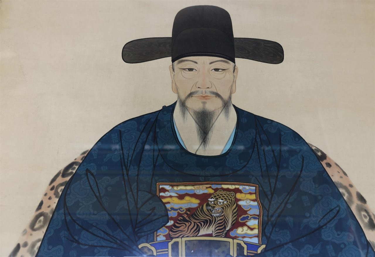 체암 나대용의 초상. 나대용의 태 자리에 있는 소충사에 모셔져 있다.