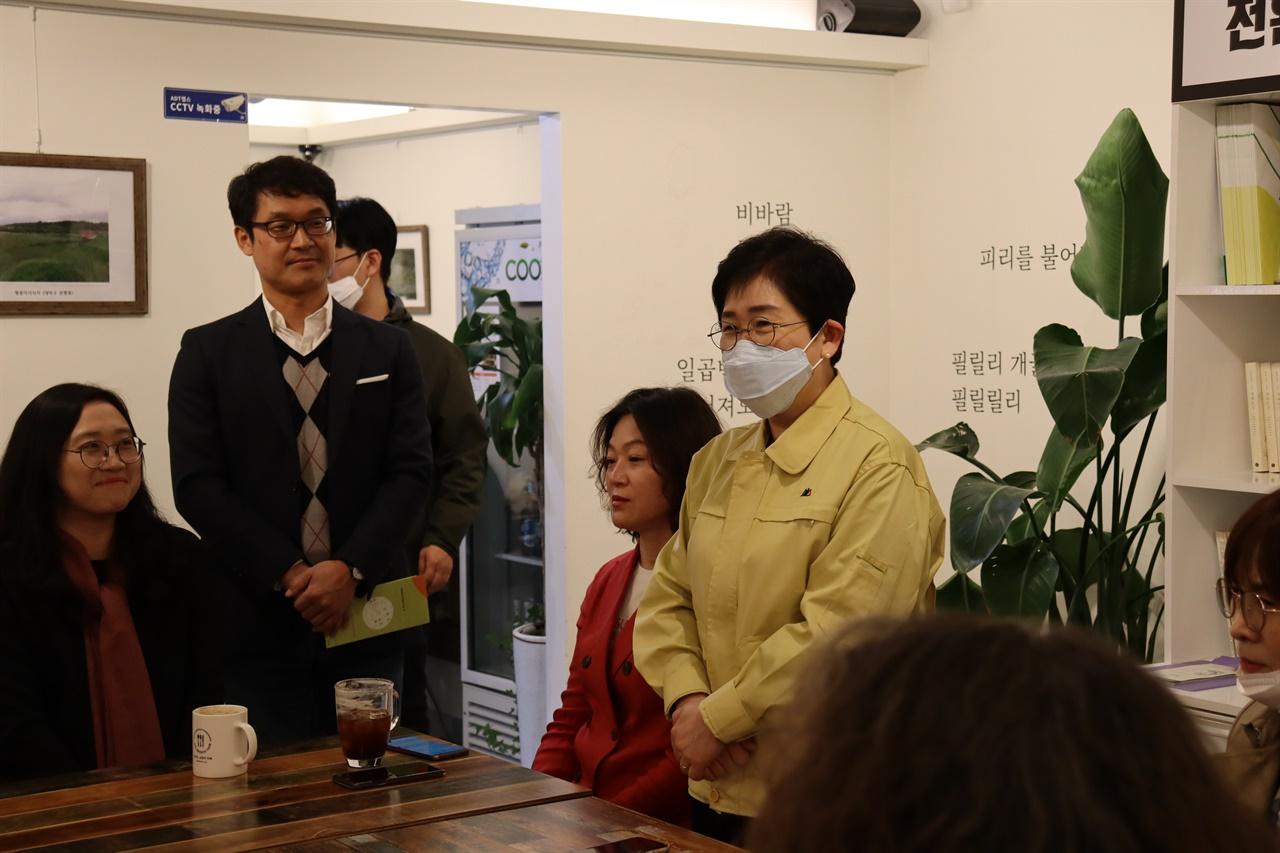 박정현 대덕구청장이 인삿말을 하고 있다.